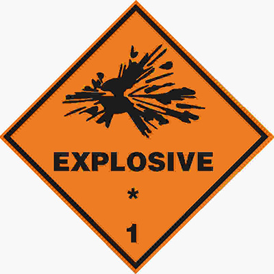 Don't put explosives in your storage unit.