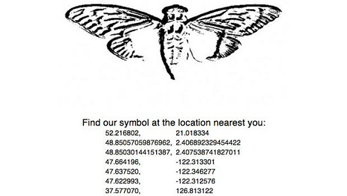 A list of GPS points related to Cicada 3301