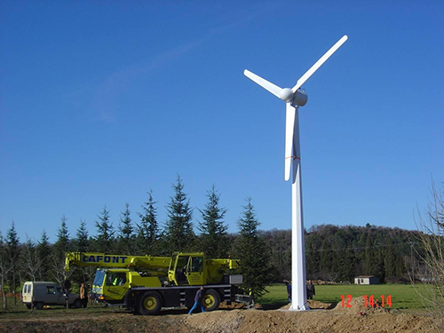 Wind Turbine at storage facilities.