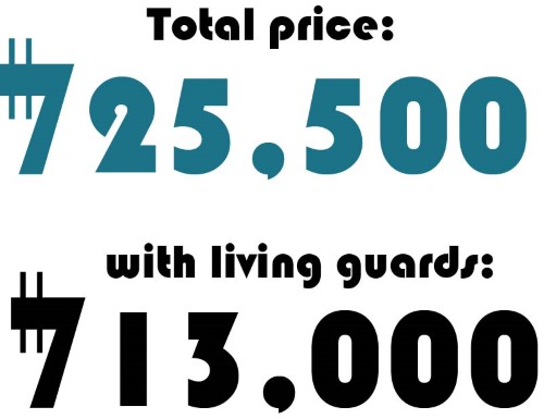 Total security cost.