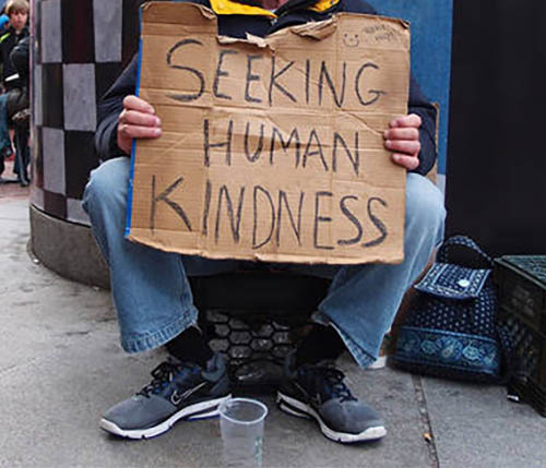A homeless person.