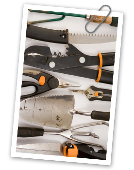 How to clean and store garden tools for the winter, tools
