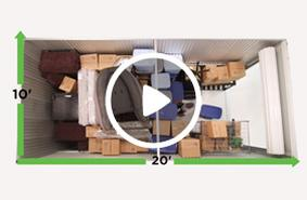 10x20 storage unit video