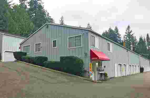 Exterior of storage facility office