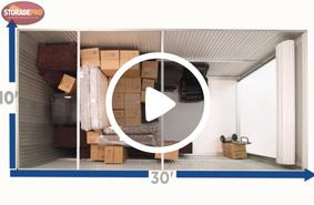 10x30 storage unit video