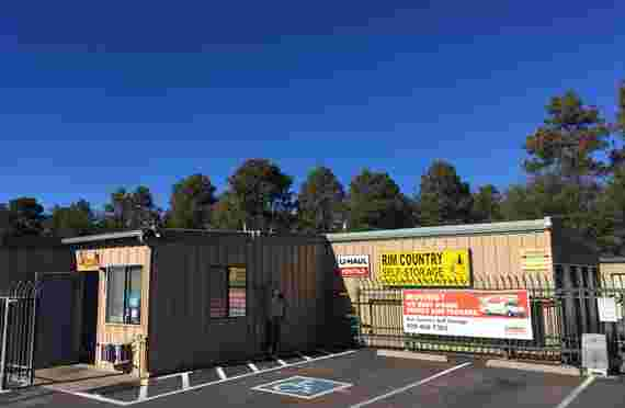 Image of outside entrance in Rim Country Self Storage Payson, AZ