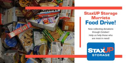 Food Drive At StaxUP Storage In Murrieta
