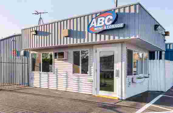 Outside front entrance at ABC Mini Storage at 11506 East Indiana, Spokane Valley, WA