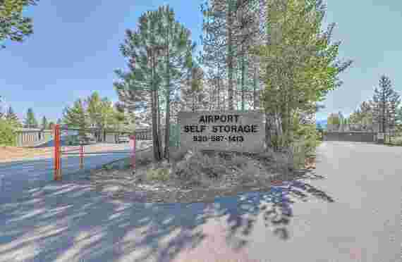 Image of Outside Sign Banner of Airport Self Storage in Truckee, CA
