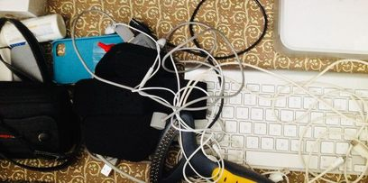 Keyboard and cords