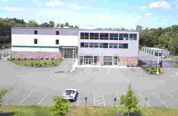 Outside aerial shot at Burlington Self Storage at 114 West St, Wilmington, MA