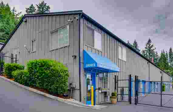 Outside of office at Glacier West Self Storage at 7979 Provost Rd NW, Silverdale, WA