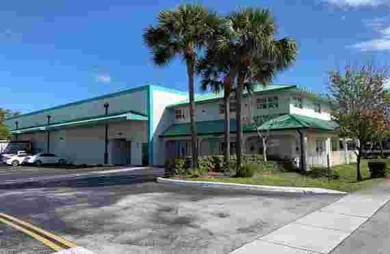 Burlington Self Storage front office in Oakland Park, FL