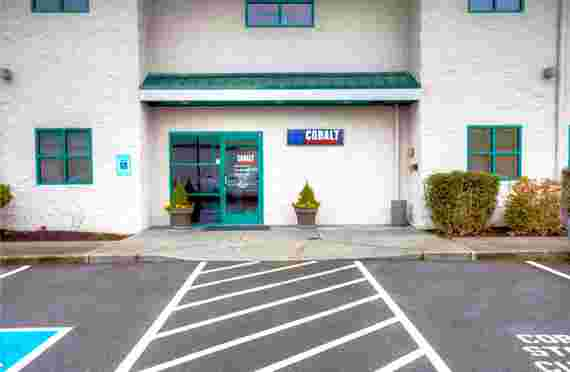 Outside of office at cobalt storage at 2222 Meridian Ave E, Edgewood, WA
