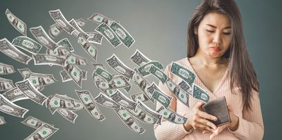 Woman Losing Money