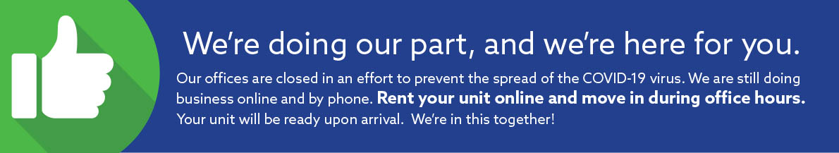 Rent Storage Unit Online during the COVID-19 crisis