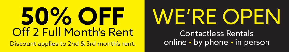 50% Off 2 Full Months Rent