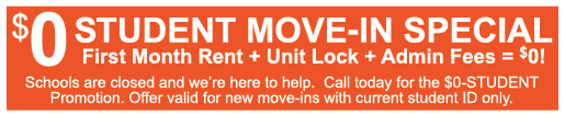 $0 MOVE-IN STUDENT SPECIAL